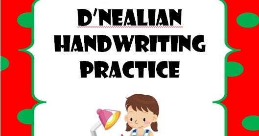 TPT - Fonts 4 Teachers: Need D'Nealian Handwriting Worksheets?