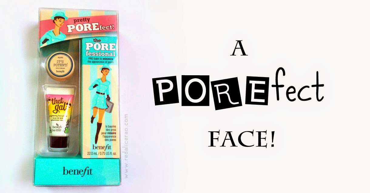 Benefit Pretty Porefect Gift Set, Benefit Porefessional Primer, Porefessional Pro Balm, That Gal Brightening Primer, Benefit It's Potent eye cream, Benefit cosmetics, Beauty Blog, Beauty blog of Pakistan, Pakistani Beauty Blog, Face primer, Beauty, Skincare, Red Alice rao, redalicerao