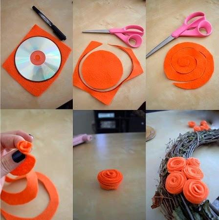 Como Hacer Rosas De Fieltro Manualidades Faciles - Manualidades-con-flores-artificiales