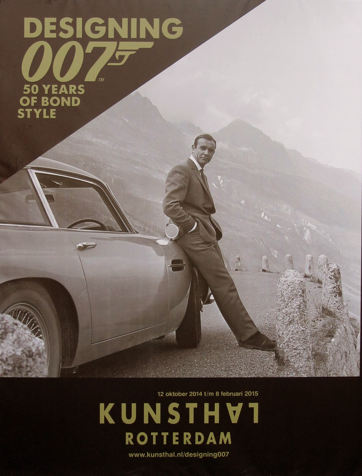 poster Designing 007, 50 years of Bond style