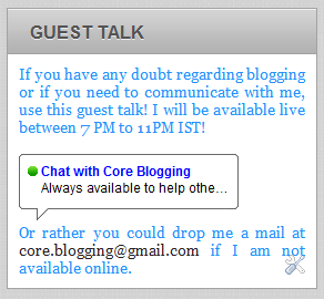 Chat With Your Blog Visitors Using Google Guest Talk Gadget