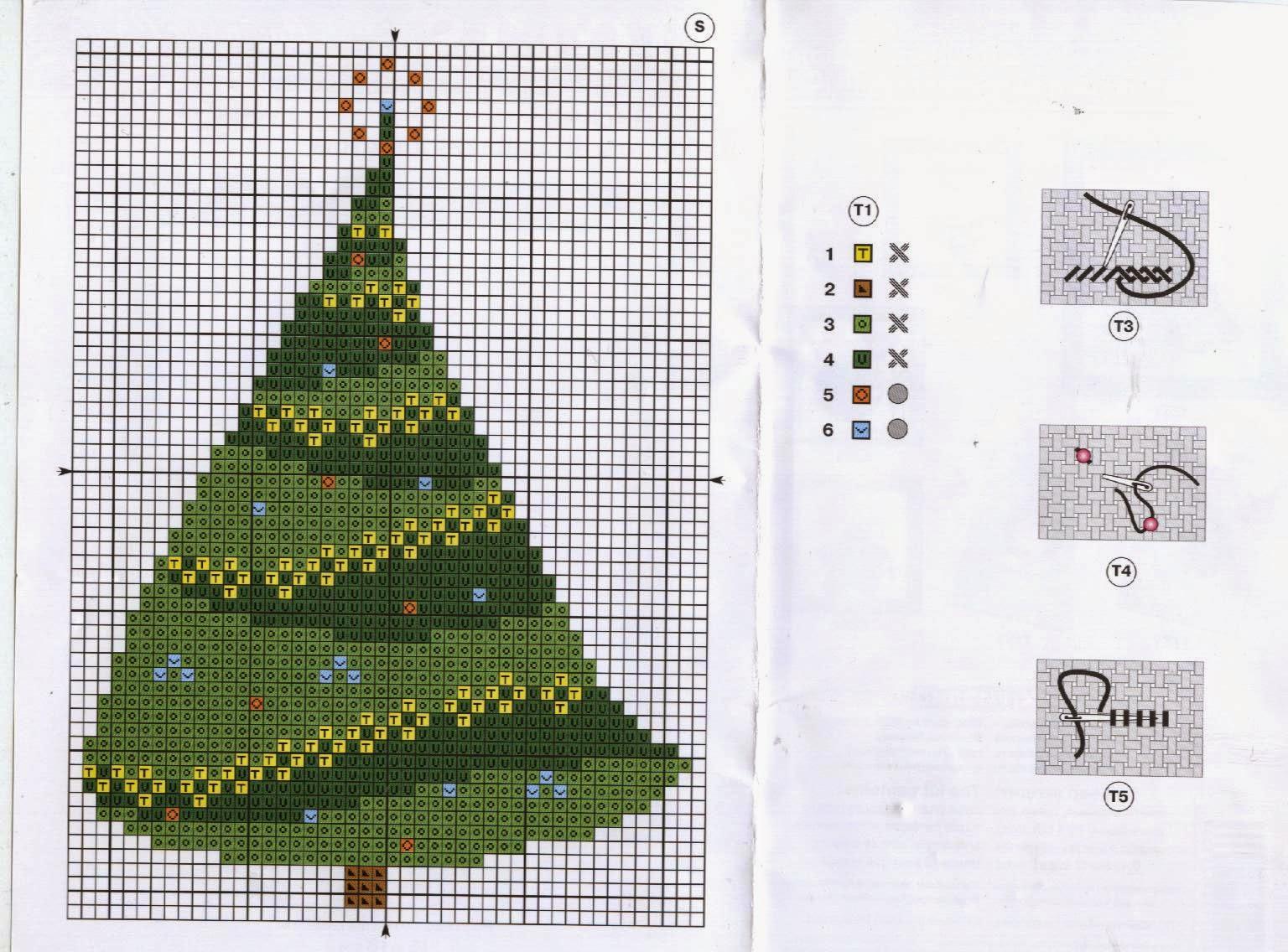 Схема вышивки крестиком елки 61