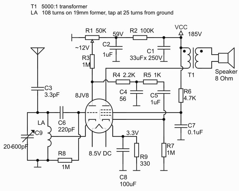 Push Pull EL84 6BQ5 6V6 6AQ5 Dynaco A 410 Tube   Schematic furthermore Page7 additionally Viewtopic likewise Tube Regenerative Receiver Schematic likewise Simple Fm Walkie Talkie 11. on one tube regenerative receiver schematics