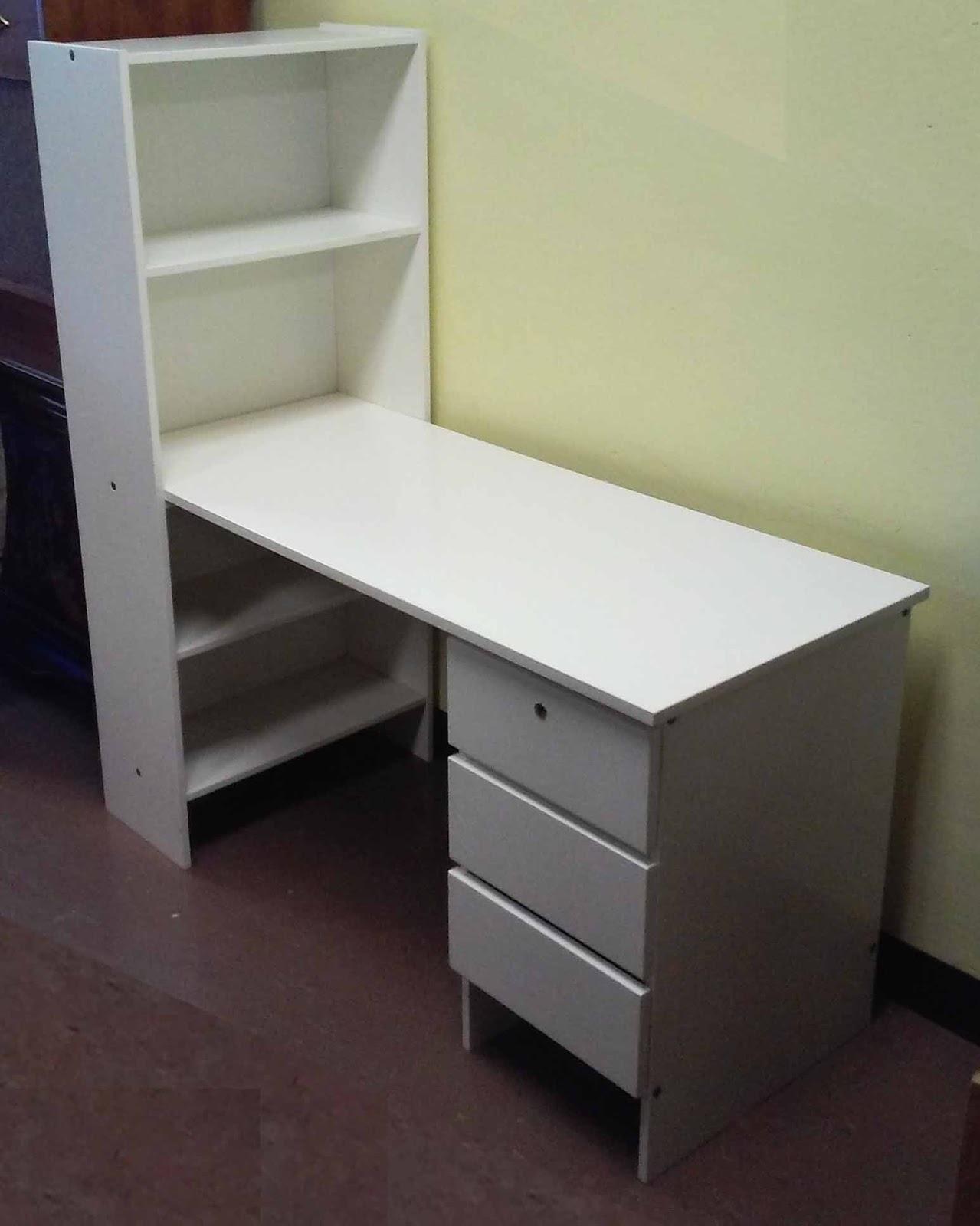 uhuru furniture collectibles sold white shelf desk unit. Black Bedroom Furniture Sets. Home Design Ideas