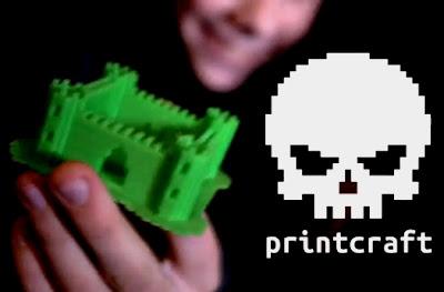 Impressora 3D Minecraft para vida real Castelo verde de Plástico da Mojang