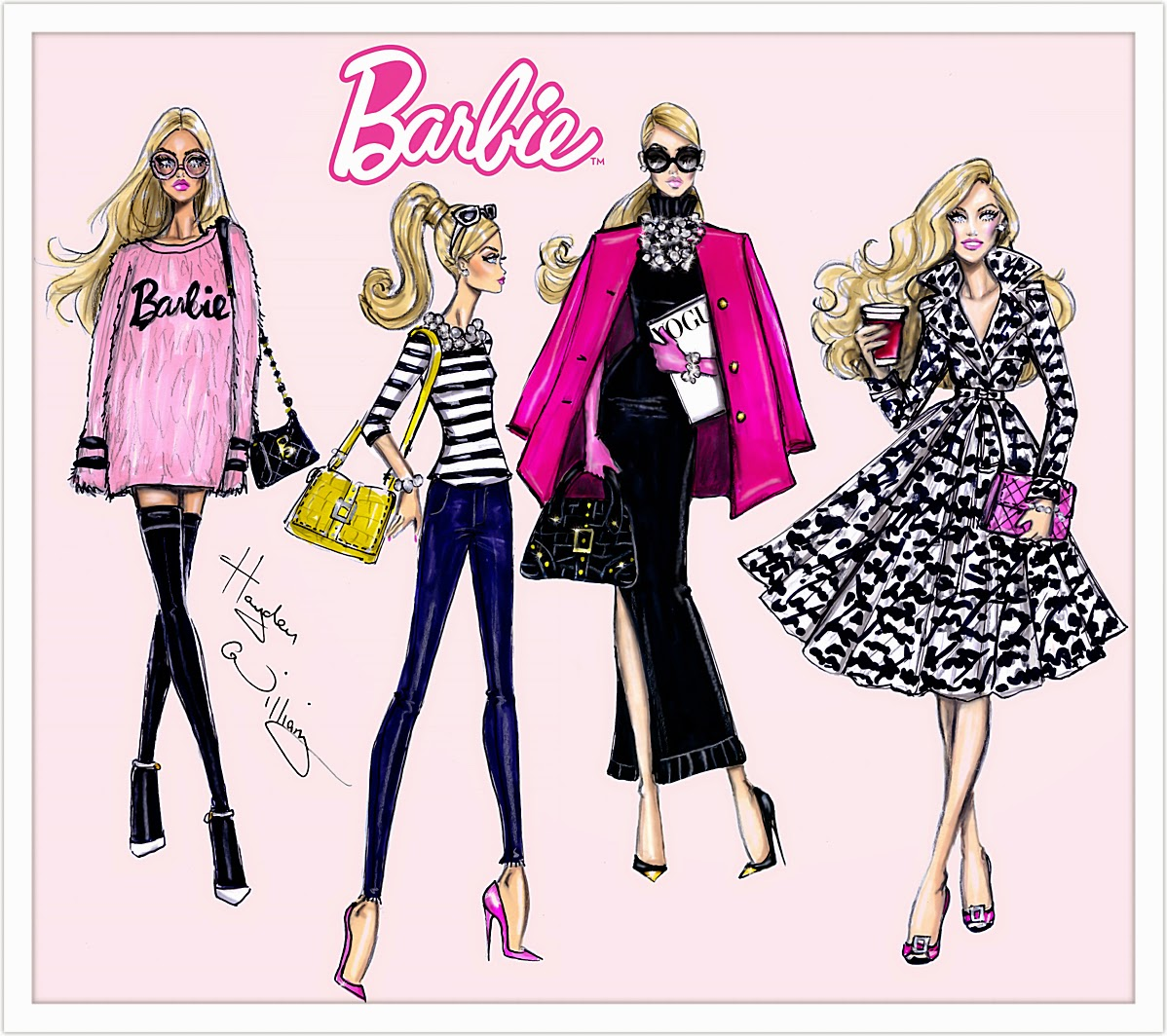 Hayden Williams Fashion Illustrations Barbie Style Collection By Hayden Williams