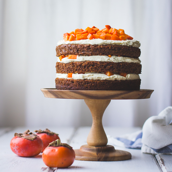 Two-Persimmon Layer Cake with Vanilla Bourbon Cream Cheese ...