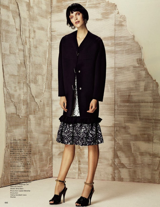 Magazine Photoshoot : Mirte Maas Photoshot For Toby Knott Vogue Magazine Japan January 2014 Issue