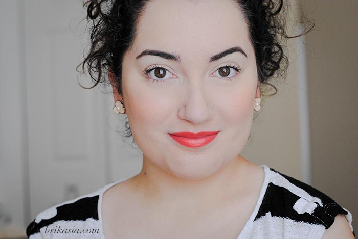 bright orange lips, orange lipstick trend, spring makeup trends, easy spring beauty look makeup tutorial