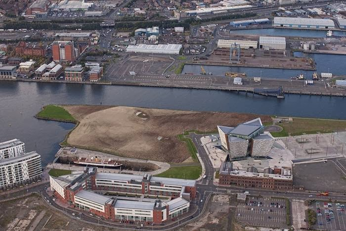 "Belfast Festival at Queen's in Northern Ireland opened in a big way this year with an 11-acre portrait of a young girl titled ""Wish."""