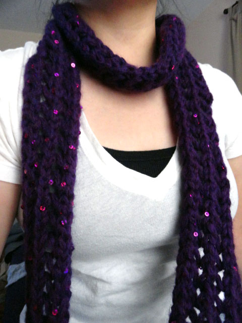 Knitting Pattern For Thin Scarf : Skinny Lace Scarf Pattern - Purl Avenue