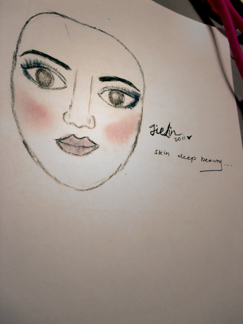 Drawing with make-up