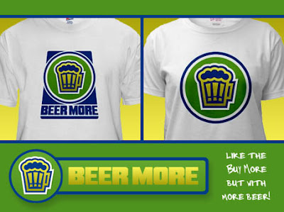 Visit the Beer More for Chuck t-shirts at CafePress!