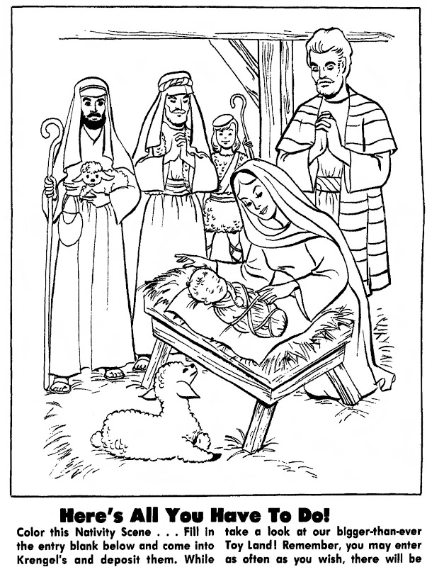 November 22 1973 quot color this nativity scene quot a coloring