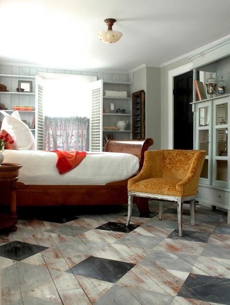die wohngalerie streichen sie ihren dielenboden ein umwerfendes dekor. Black Bedroom Furniture Sets. Home Design Ideas