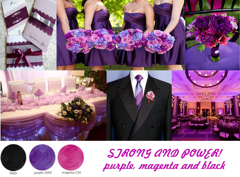 7 Kwiatów Inspiracje Różowo Fioletowy ślub