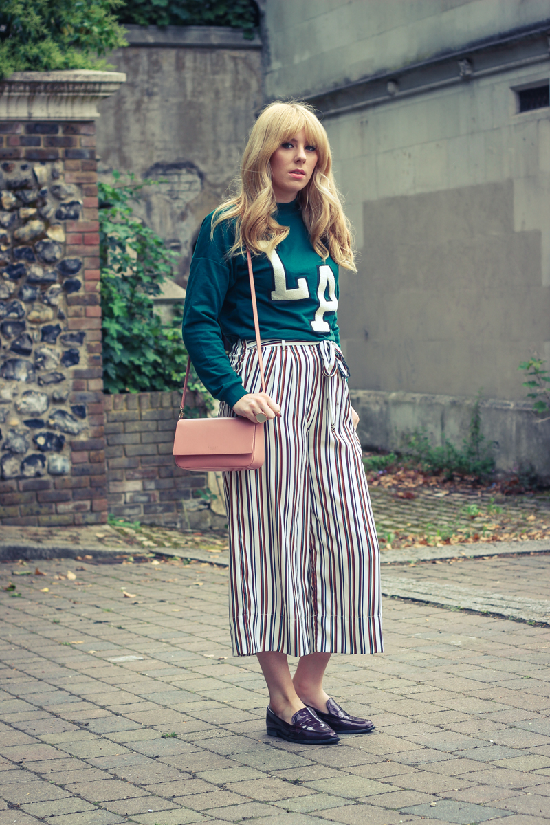 UK Fashion Blogger, Zara Stripe Trousers - The Goodowl