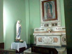 La Virgen de Lourdes y la de Guadalupe, en la catedral de la Virgen del Valle de Catamarca.