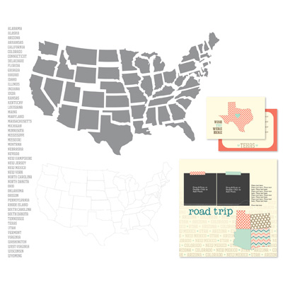 Digital Punches of 50 States to document travels