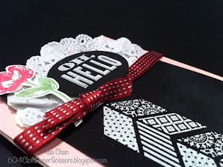 Oh Hello Chalkboard card by Ida Chan Stampin Up Vancouver