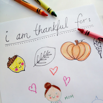 Thanksgiving Coloring Page by Lady Lucas