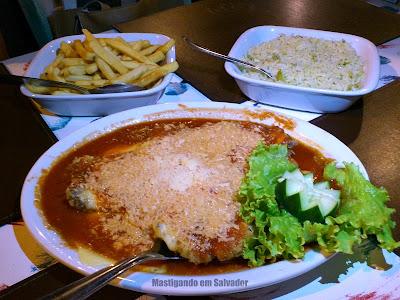 Restaurante Marinata: Filé a Parmegiana (meia porção)
