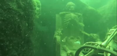 Skeletons found under the California River