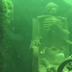 A snorkler found skeleton having a tea party at the bottom of the river