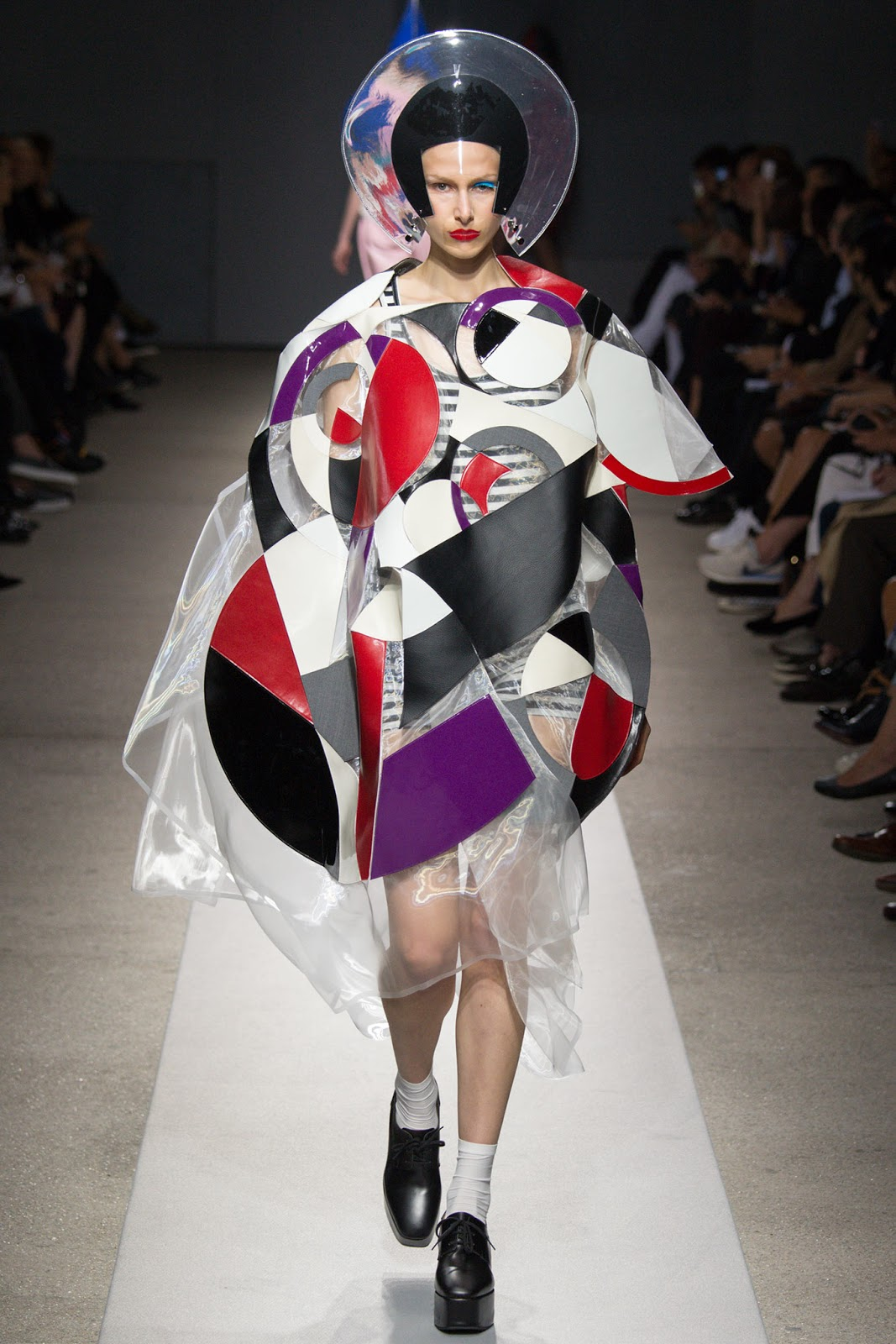 Cardboard Headdress Fashion Show