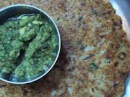 horse gram uttapam and a refreshing chutny