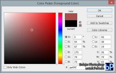 belajar menggunakan warna, photoshop, cs6, belajar photoshop, pemula