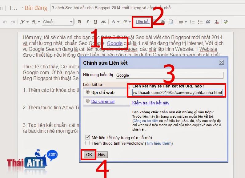 3 cách Seo bài viết cho Blogspot 2014 chất lượng và cần thiết nhất