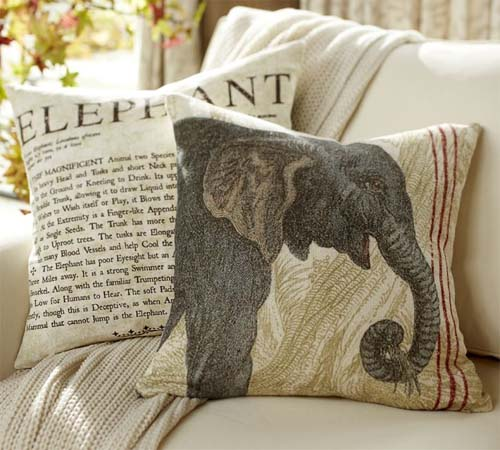 Wild Animals Decorative Pillows from Pottery Barn