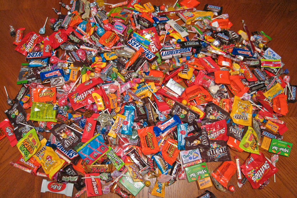 Halloween Candy Pile