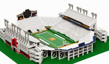 Etsy merchant selling Auburn's Jordan-Hare Stadium LEGO kit.