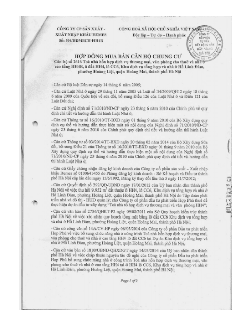 Trang 1 Chung cư hh3 linh đàm
