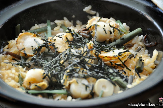 scallop claypot rice