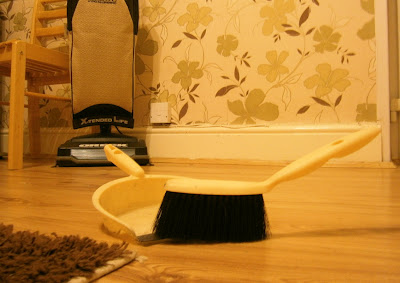Dustpan and brush domestic nightmare