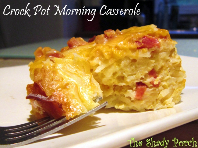 Crock Pot Morning Casserole #recipe #slowcooker #breakfast #casserole