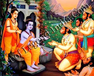 Rama give ring to Hanuman