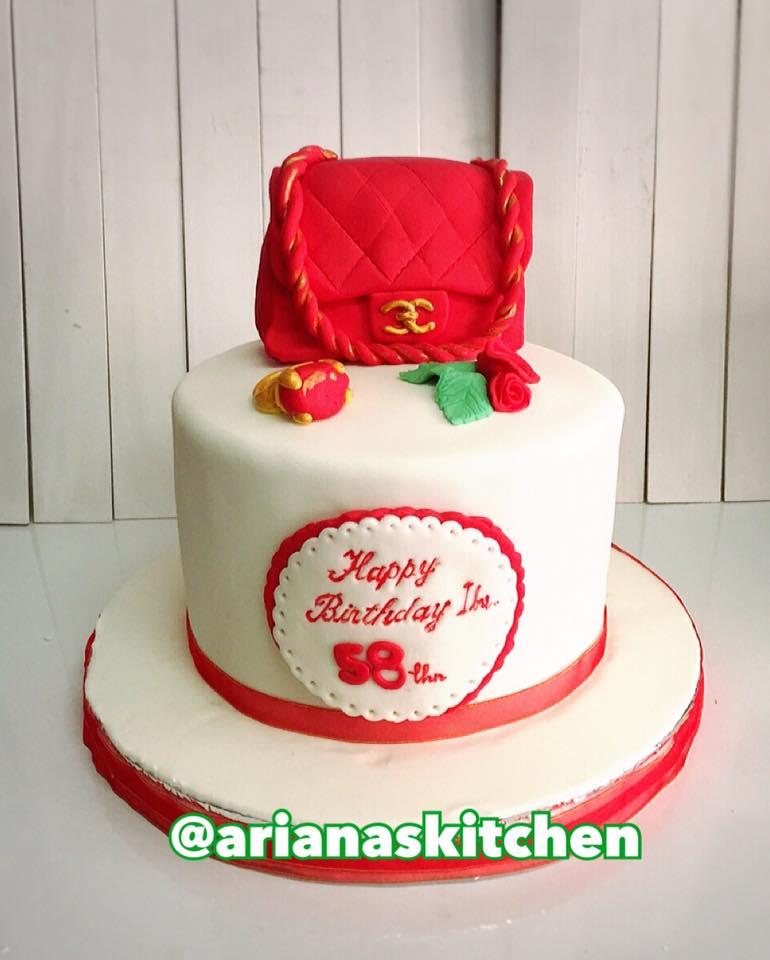 Arianas Kitchen Channel Bag Cake
