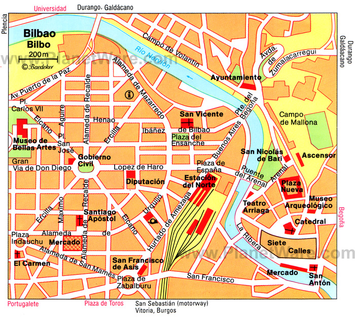 Bilbao Tourism Map Regional Map Of Spain Tourism Region