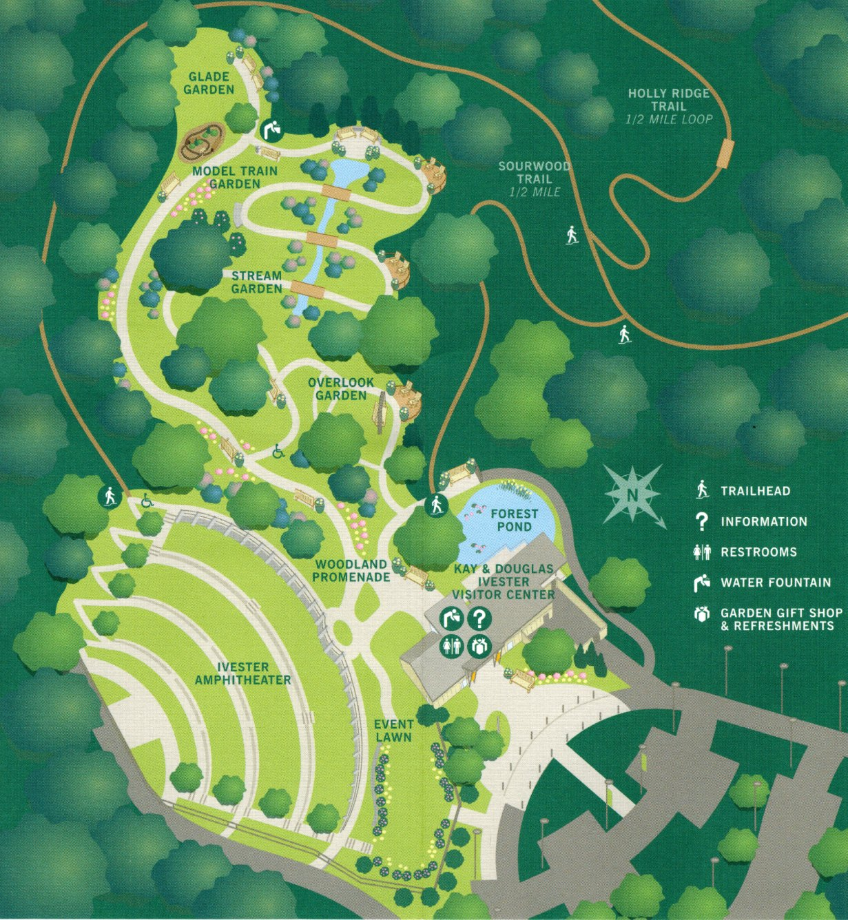 Using georgia native plants botanical garden abg in for Garden design map