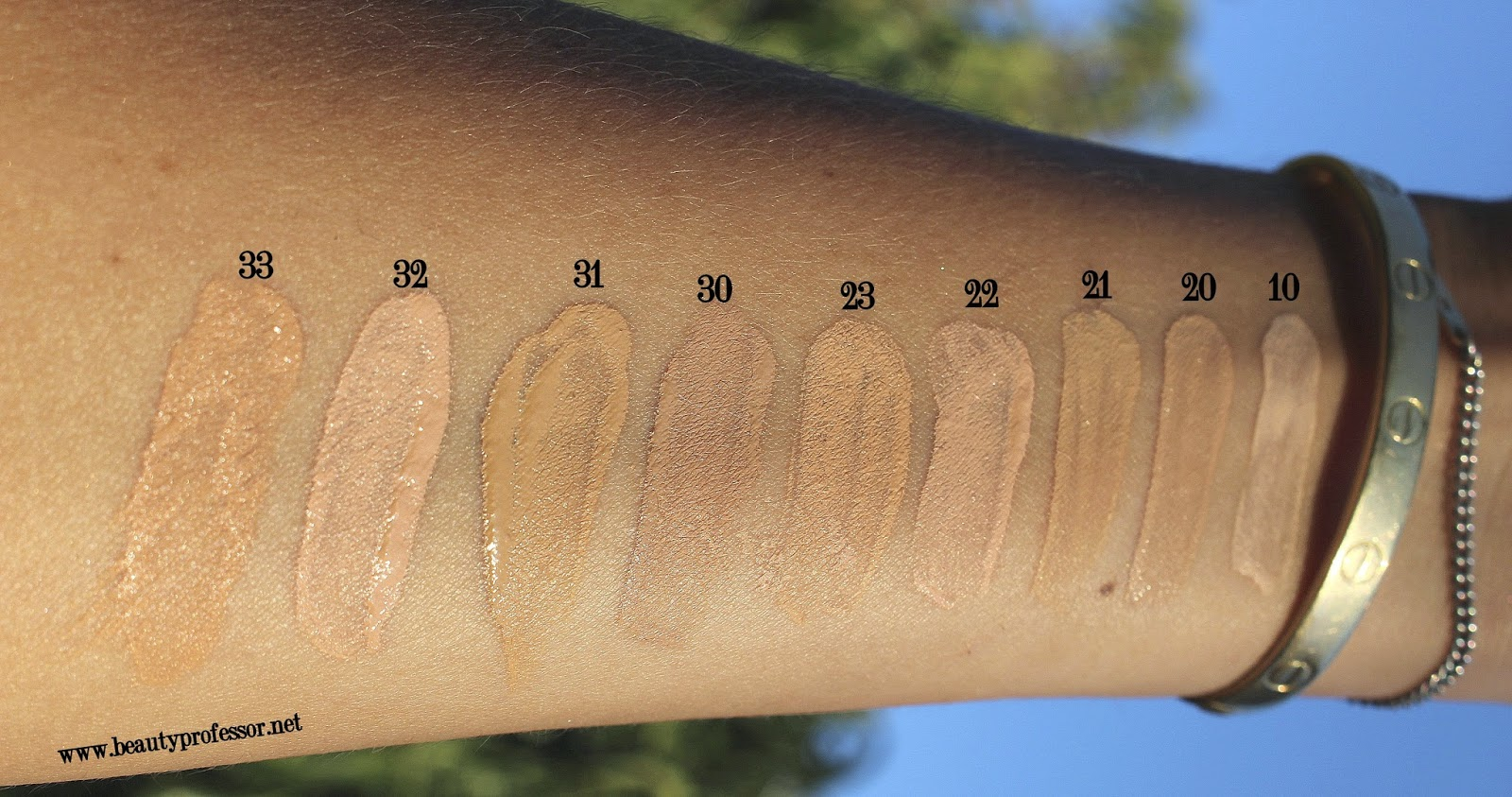 diorskin star foundation swatches