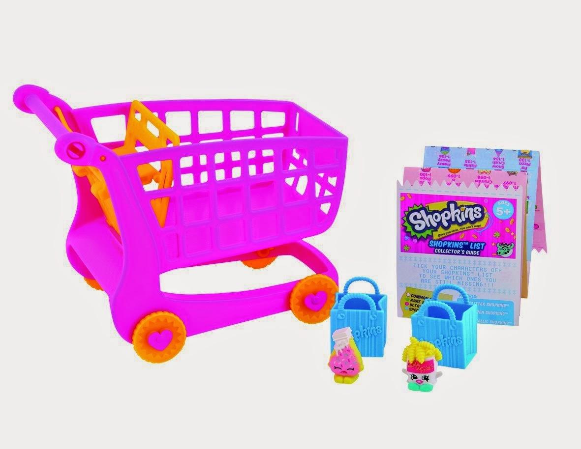 TOYS : JUGUETES - SHOPKINS El carrito de la compra + 2 shopkins  Producto Oficial | Giochi Preziosi 56017 | A partir de 5 años