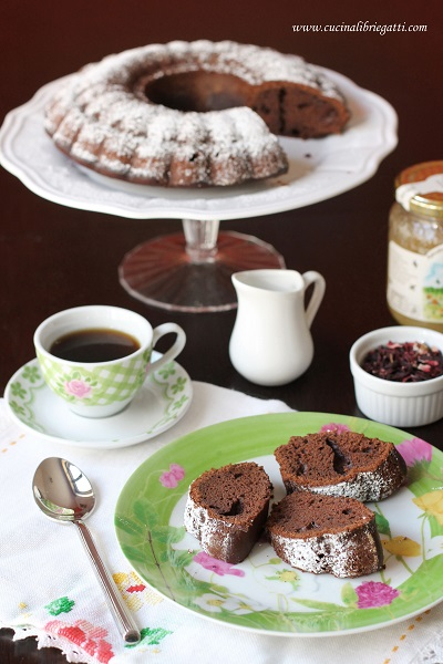 ciambellone cacao latte condensato ricetta
