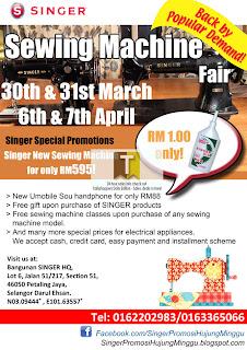 SINGER Sewing Machine Fair 2013