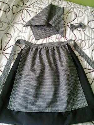 traje de pixueta de niña