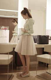 Gauze Chiffon Knee Length Skirt