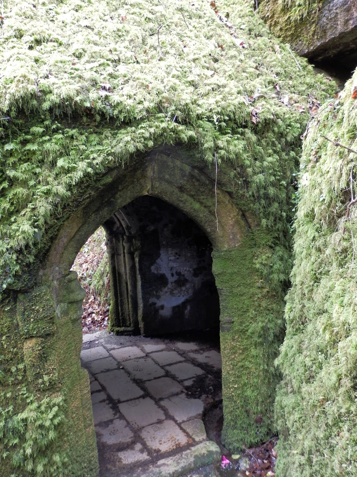 Outside walls of Holy Chapel, Menacuddle, Cornwall